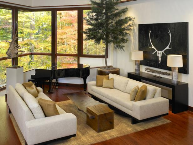 Nature-Inspired Living Room