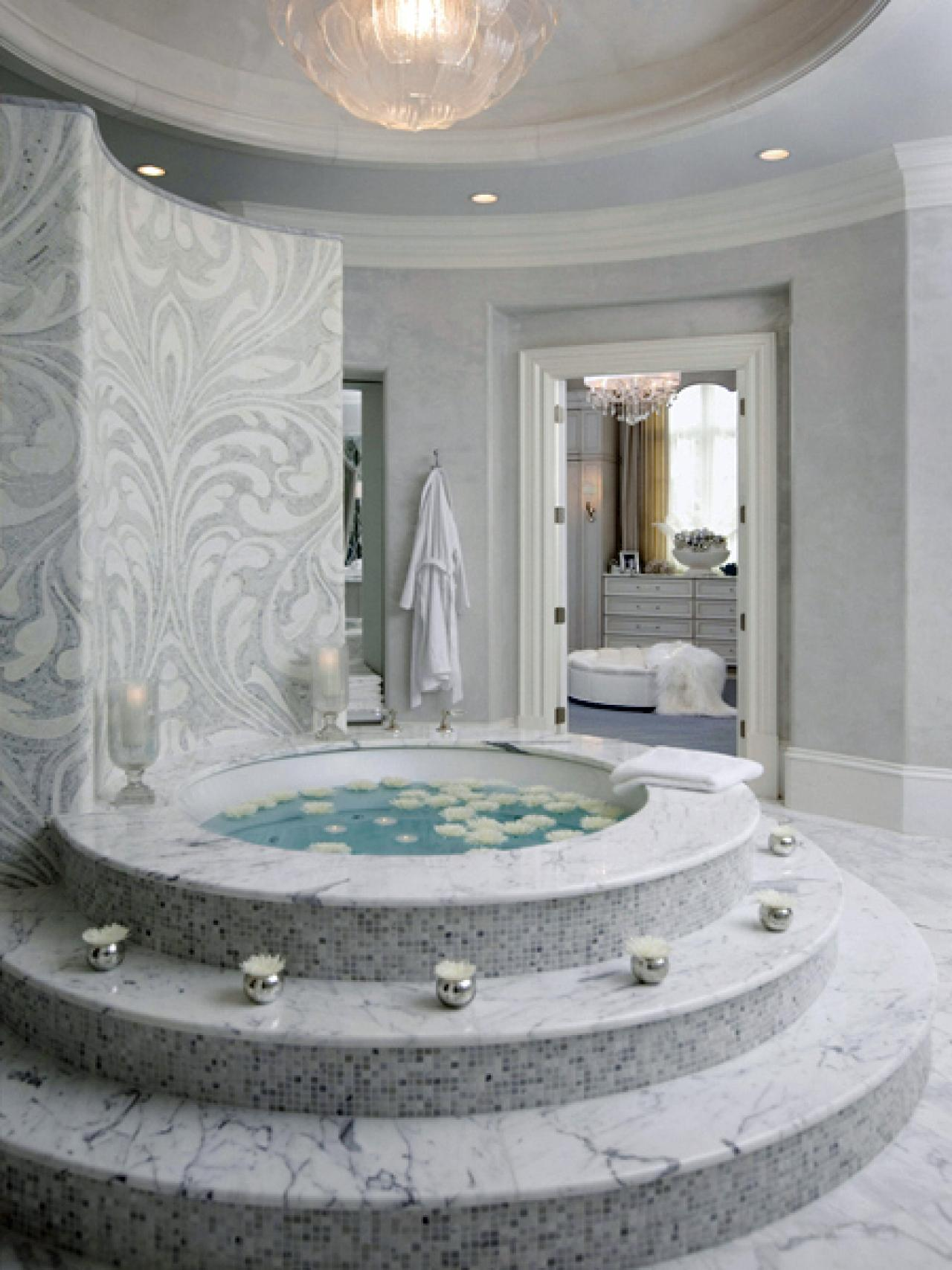 Bathroom Ideas White Tub : Two person bathtubs pictures ideas tips from hgtv
