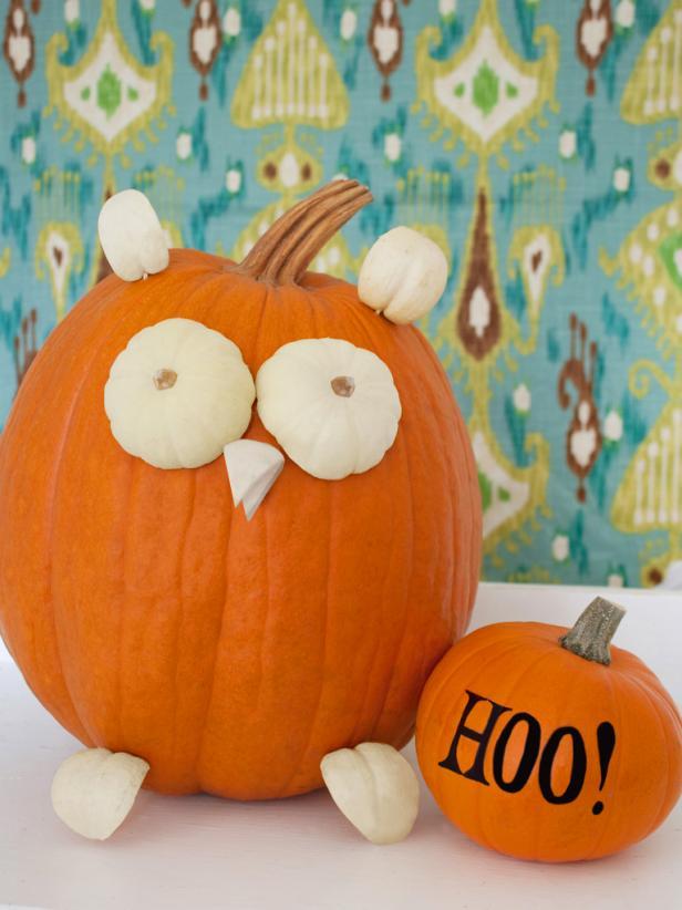 Cute Owl Pumpkin Step 7
