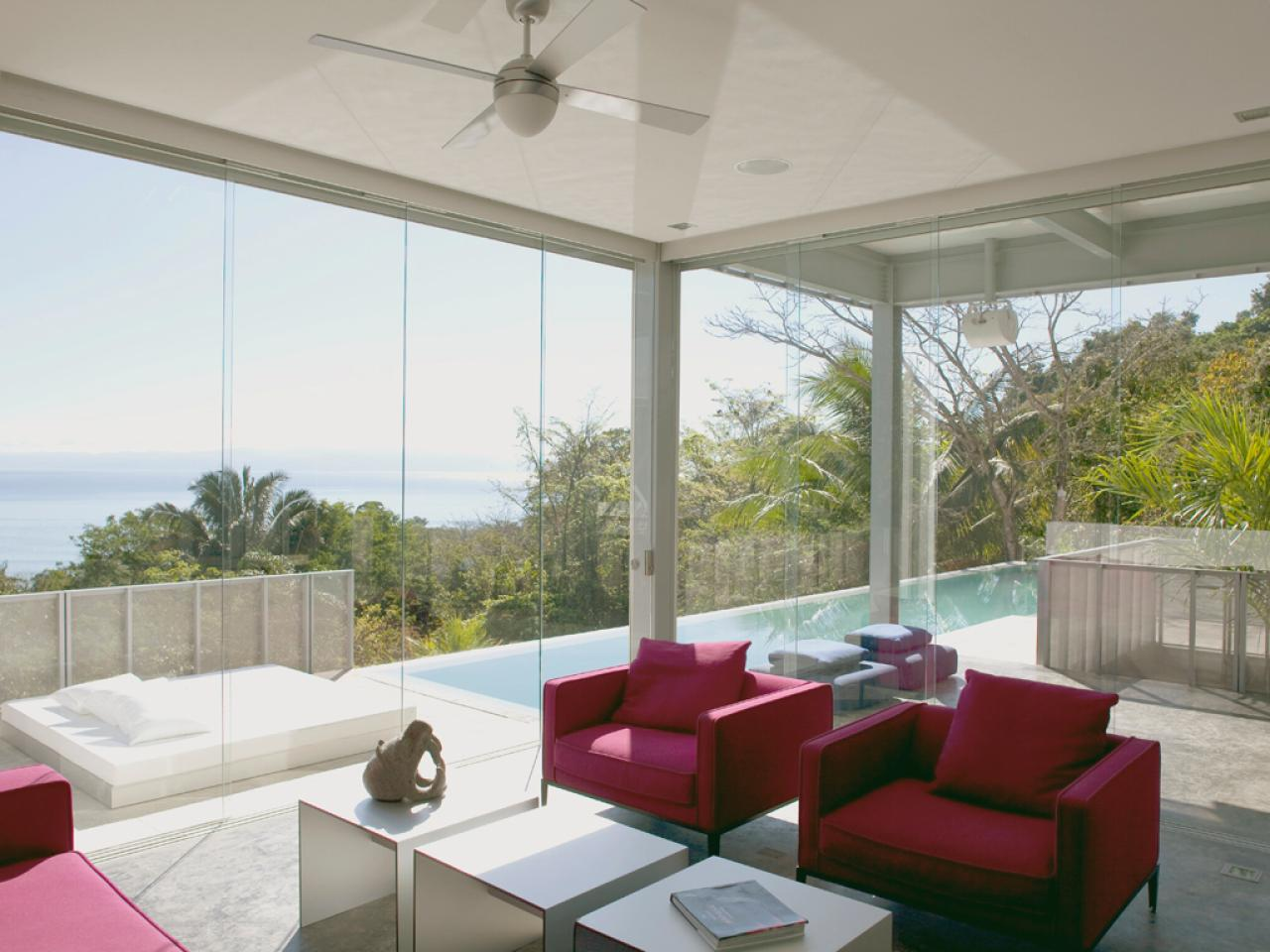 Photo page hgtv for Sliding glass walls