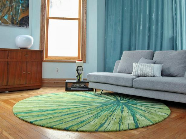Contemporary Living Room Rug choosing the best area rug for your space | hgtv