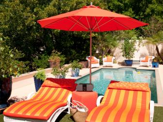 Orange Poolside Furniture