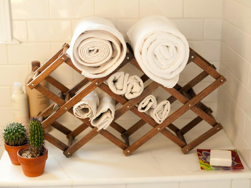 Clever uses for everyday items in the bathroom hgtv for Bathroom things