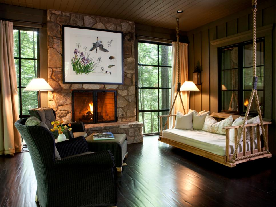 Rustic retreats luxurious style hgtv for Rustic retreat