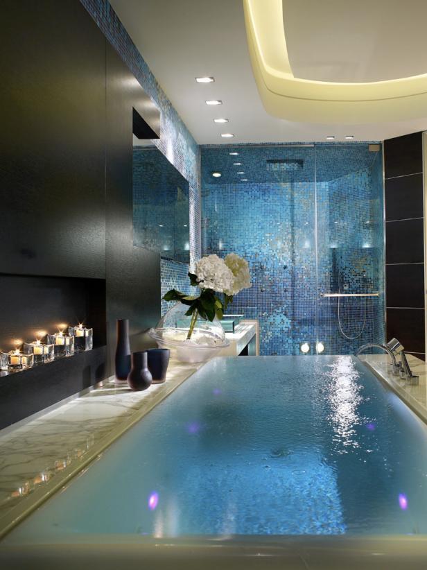 Sparkling Infinity Bath Tub