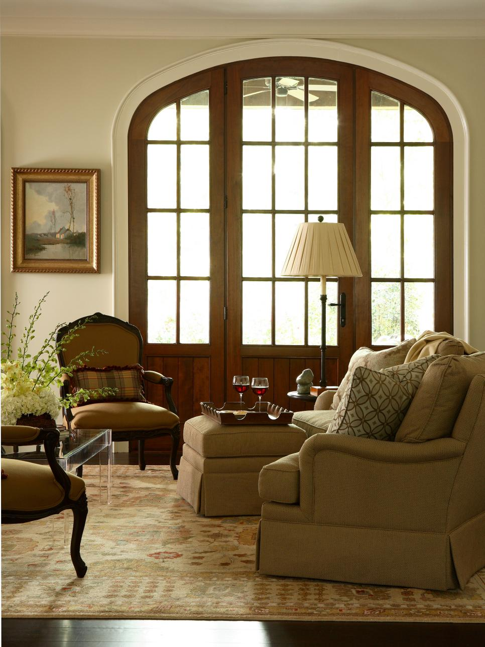 Traditional Room With French Doors