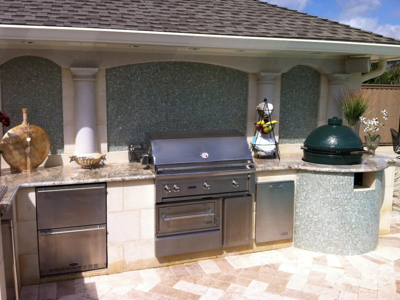 Outdoor Kitchen Designs Pictures Ideas  Tips From HGTV HGTV - Outdoor kitchen designs with smoker