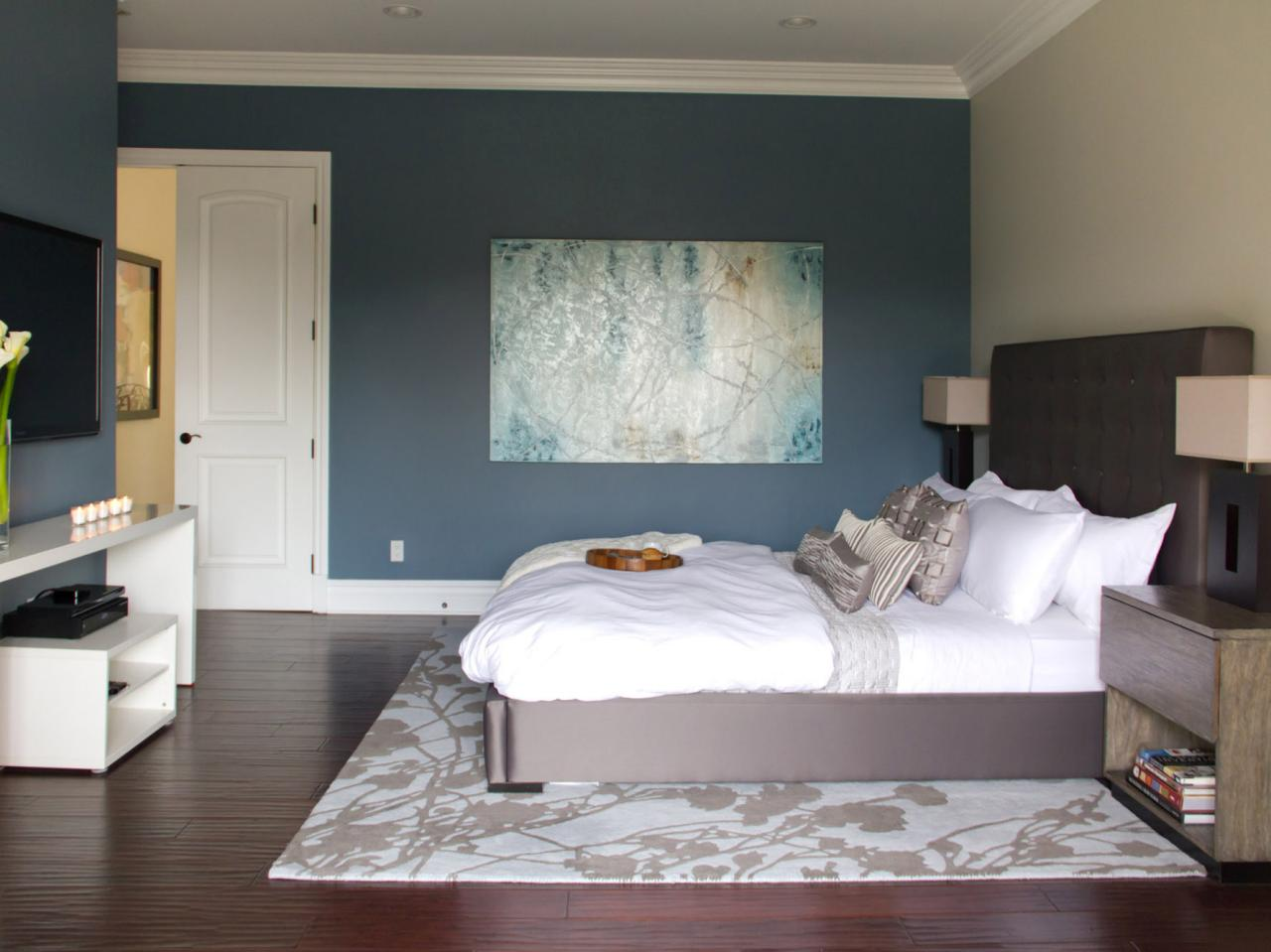 Blue bedroom photos hgtv Modern bedroom blue