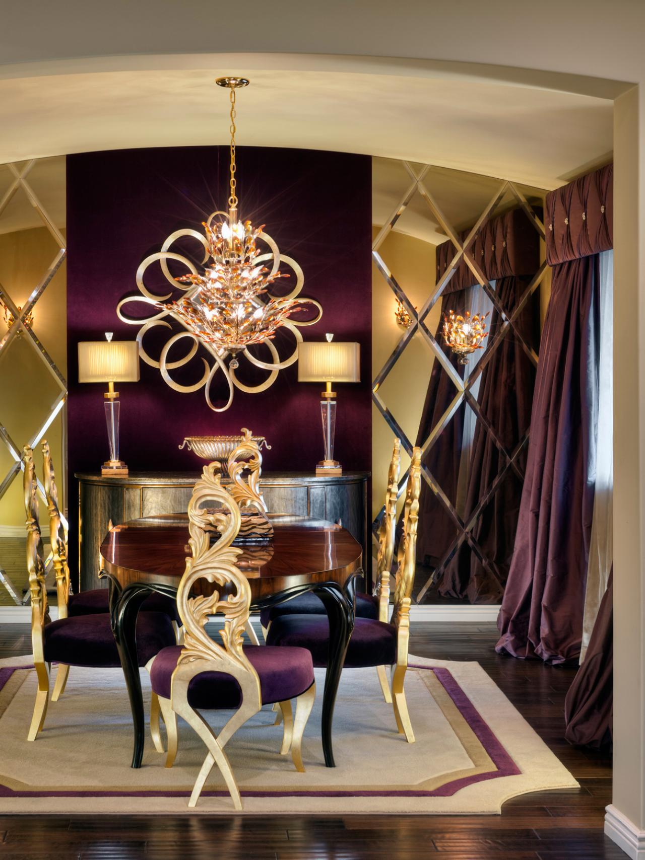 Purple And Gold Living Room DesignHouse Decor