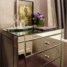 Mirror Bathroom Cabinet and Marble Tub