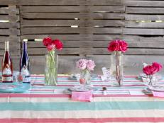 Vintage Barn Table Setting