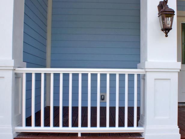 White Porch Railing
