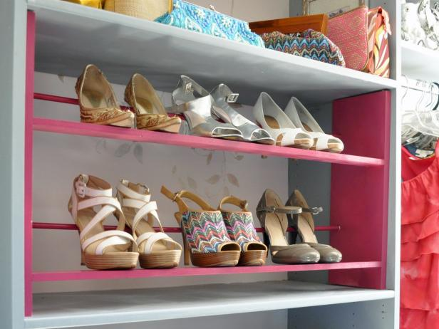 Painted Shoe Rack