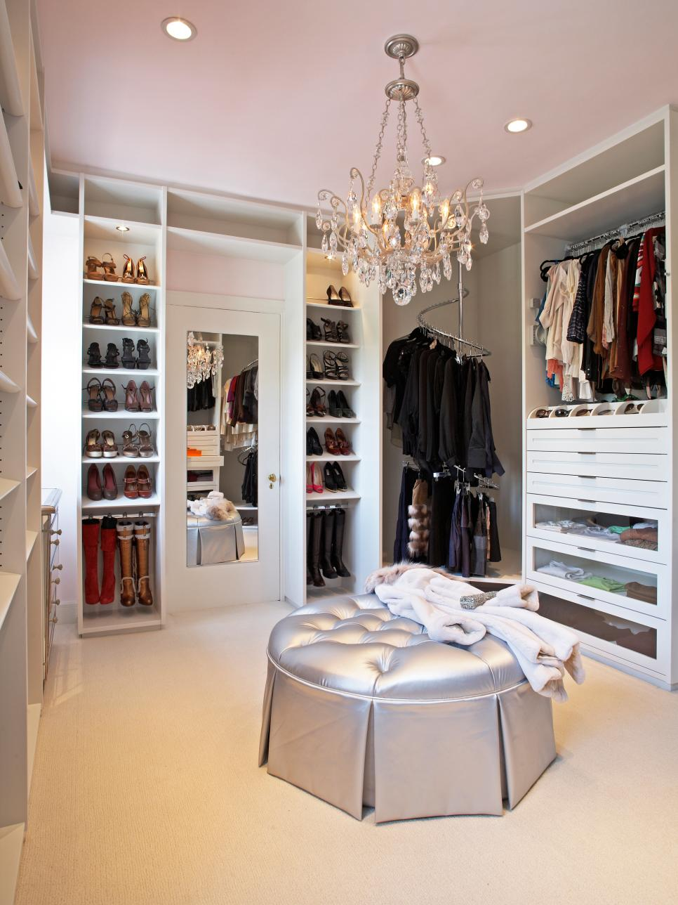 12 steps to a perfect closet hgtv for Walk in closet remodel