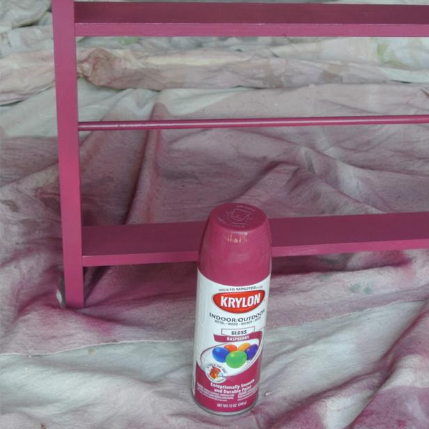 Spray Paint Your Shoe Rack