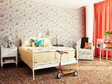 Multiple Floral Patterns In Kids Bedroom