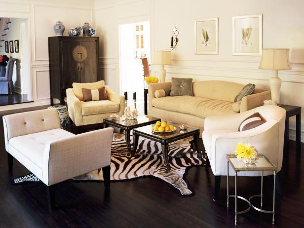 Neutral Eclectic Living Room