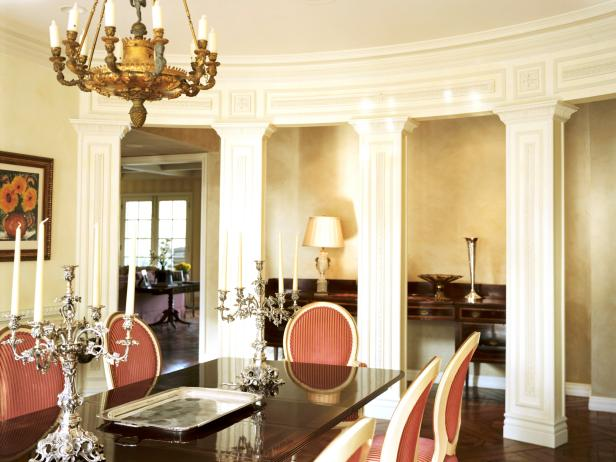 Lavish Formal Dining Room With Louis XIV Chairs