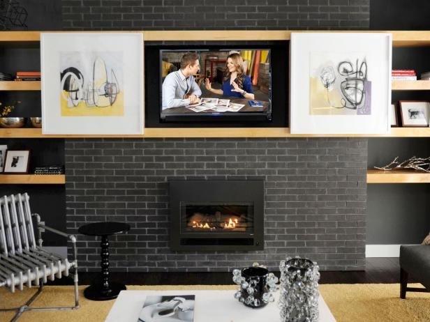 HGTV on how to blend a big-screen TV into the decor | HGTV