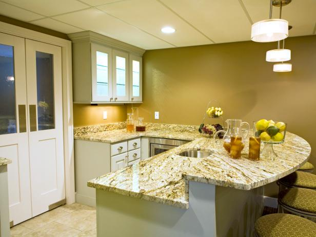 Basement Kitchen with Breakfast Bar