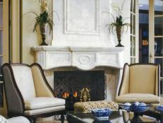 Dramatic Stone Fireplace