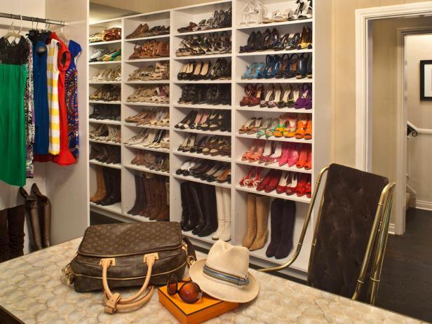 Walk-In Closet With Shoe Storage
