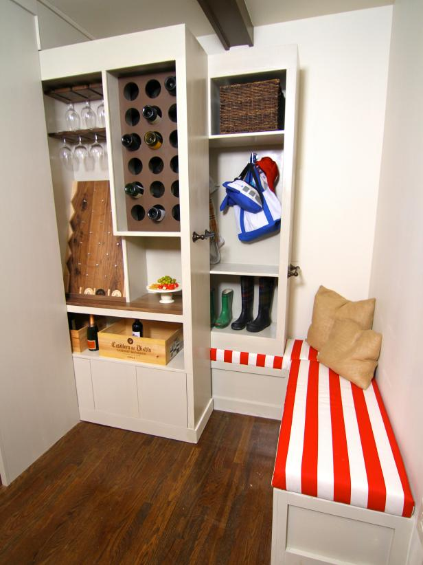 Clever ways to make the most of a small space elbow room hgtv - Small spaces storage solutions image ...