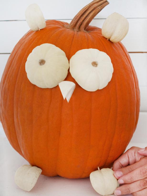 Halloween Owl Pumpkin Step 5