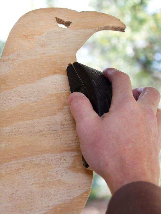 Use a sanding block to smooth rough edges.