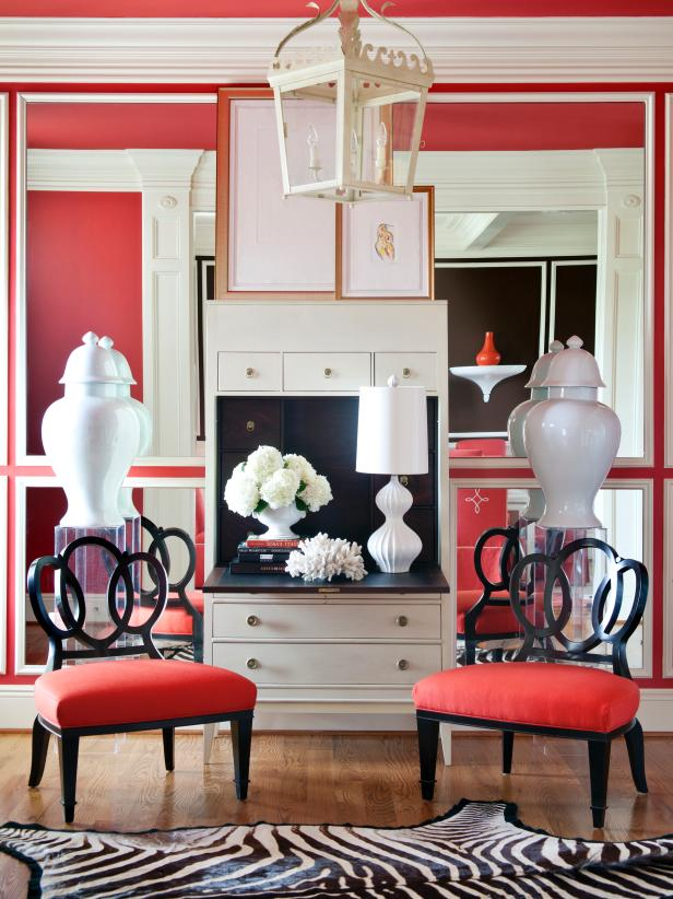 Eclectic, Red Sitting Room