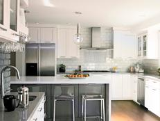 Lovely White and Stainless Steel Contemporary Kitchen