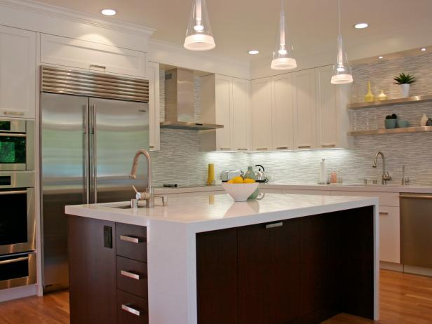 White Kitchen With Cabinets and Open Shelving