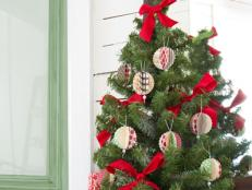 DIY 3D Paper Christmas Tree Ornaments From Card Stock