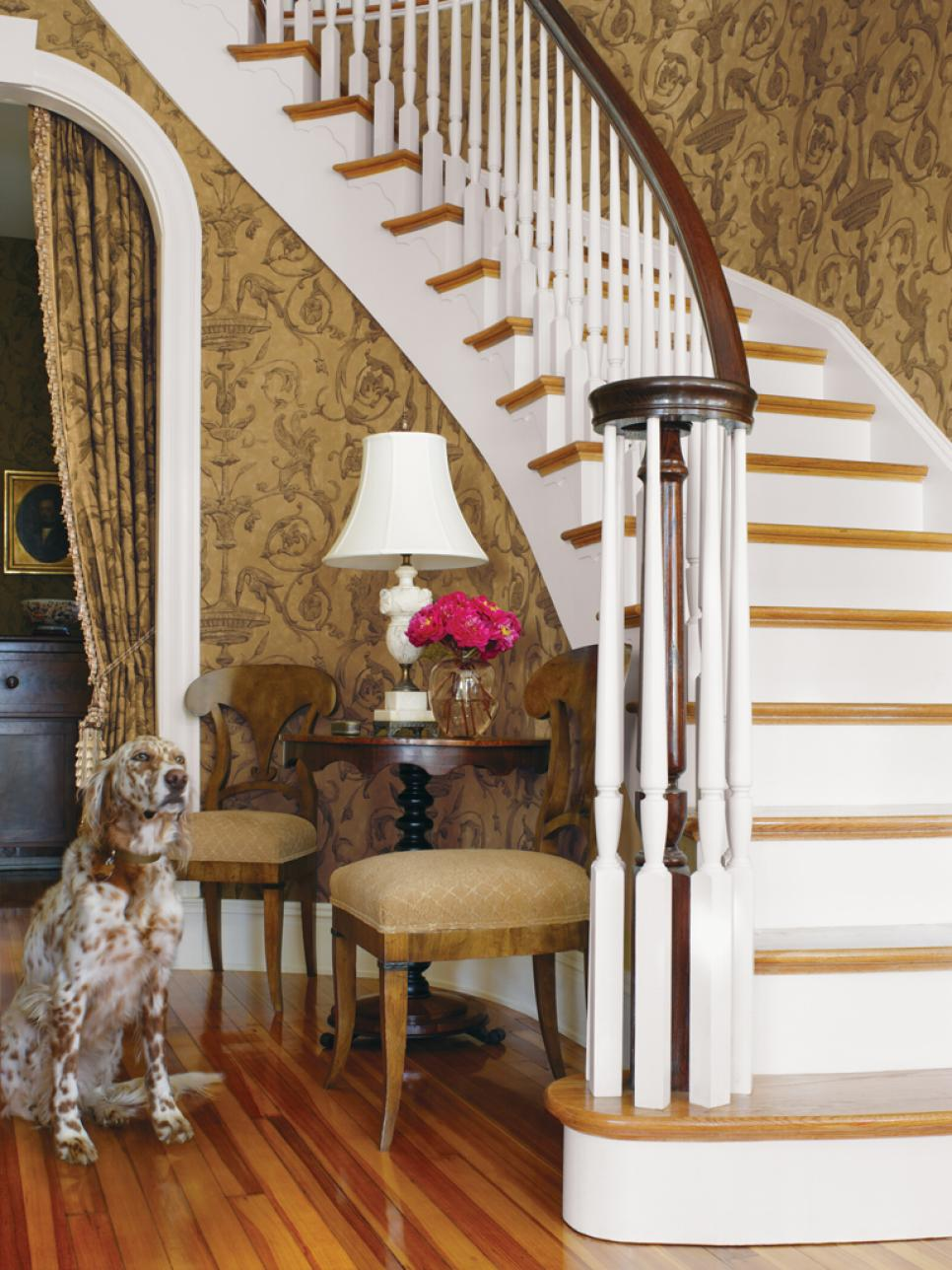 Our favorite fall decorating ideas hgtv for Foyer staircase decorating ideas