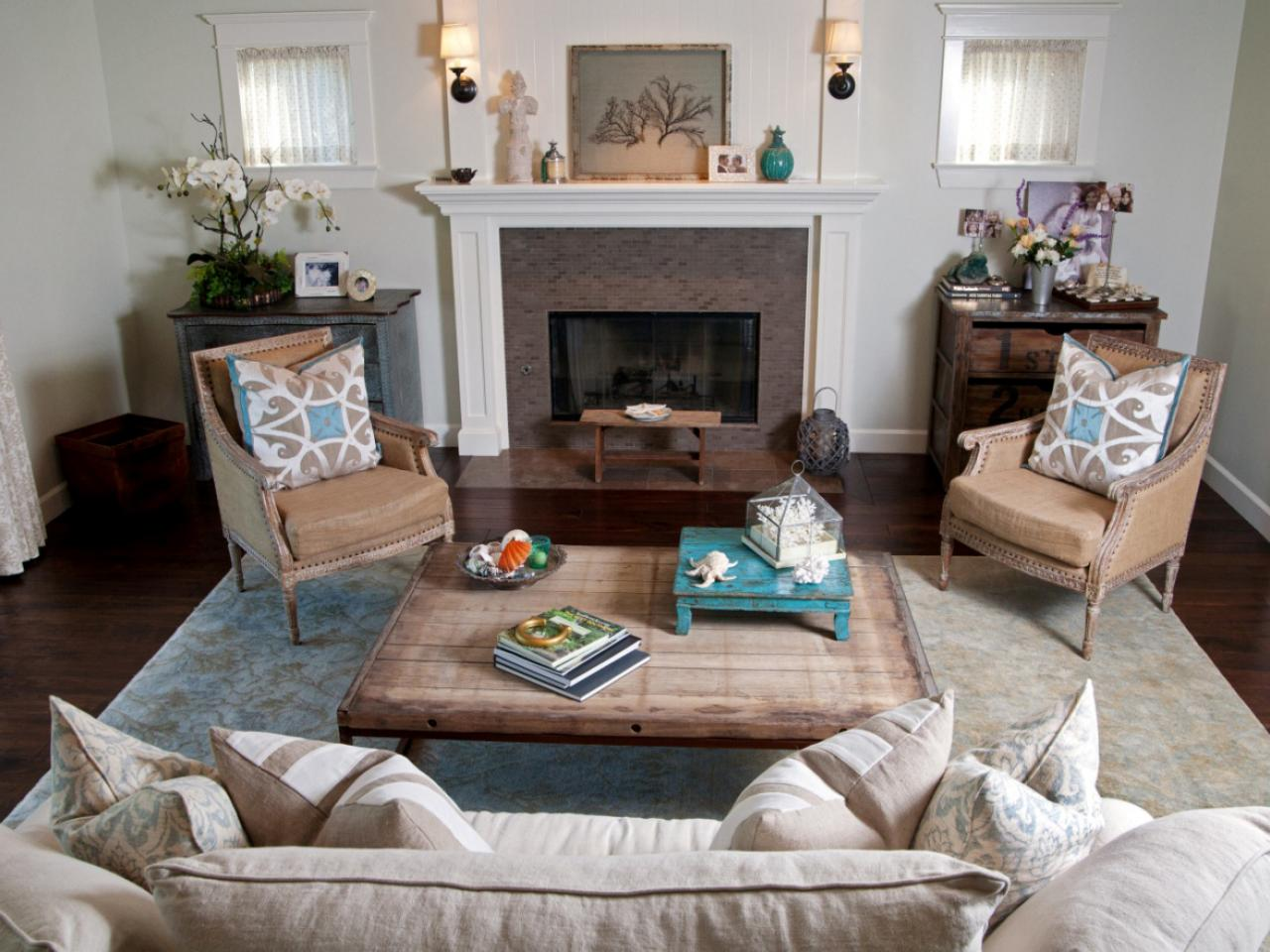 Coastal living room ideas living room and dining room for Cottage living room design ideas