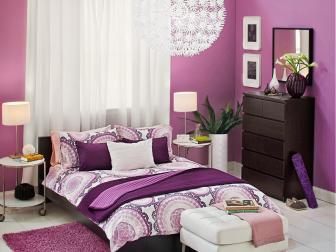 Contemporary Purple Bedroom Is Fun, Fresh