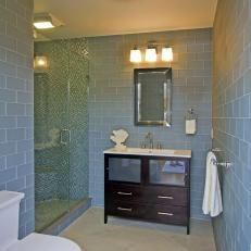 Blue Glass Subway Tile In Bathroom Part 50