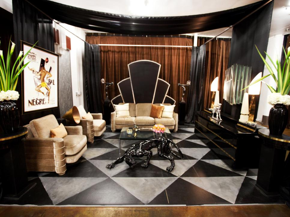 Design star season 7 photo highlights from episode 5 for Interior design challenge art deco