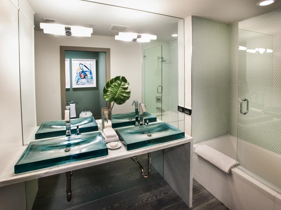 Hgtv urban oasis 2012 guest bathroom pictures hgtv - Pictures of modern bathrooms ...