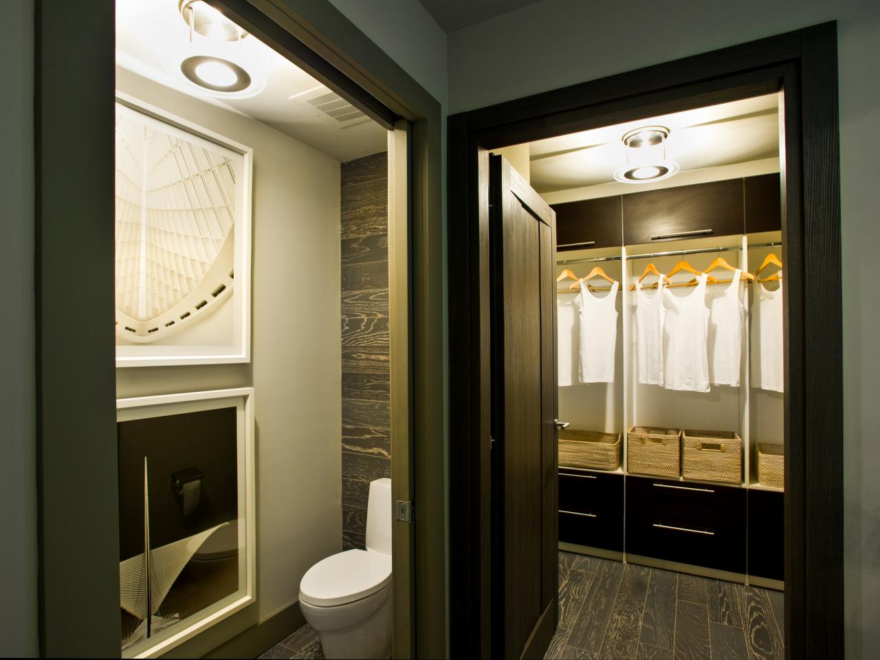 Photo page hgtv for Closet bathroom suites