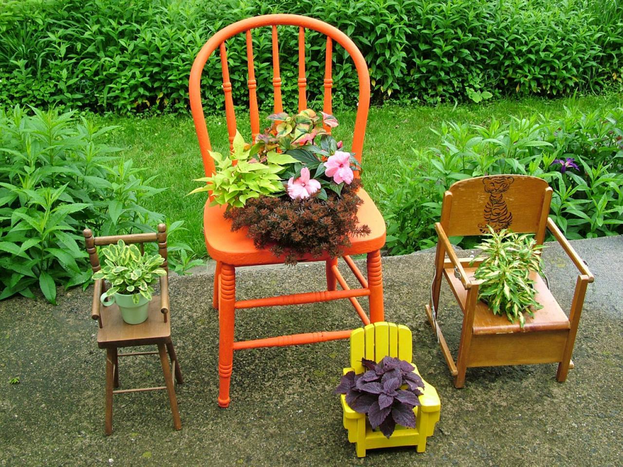 Табурет для сада своими руками