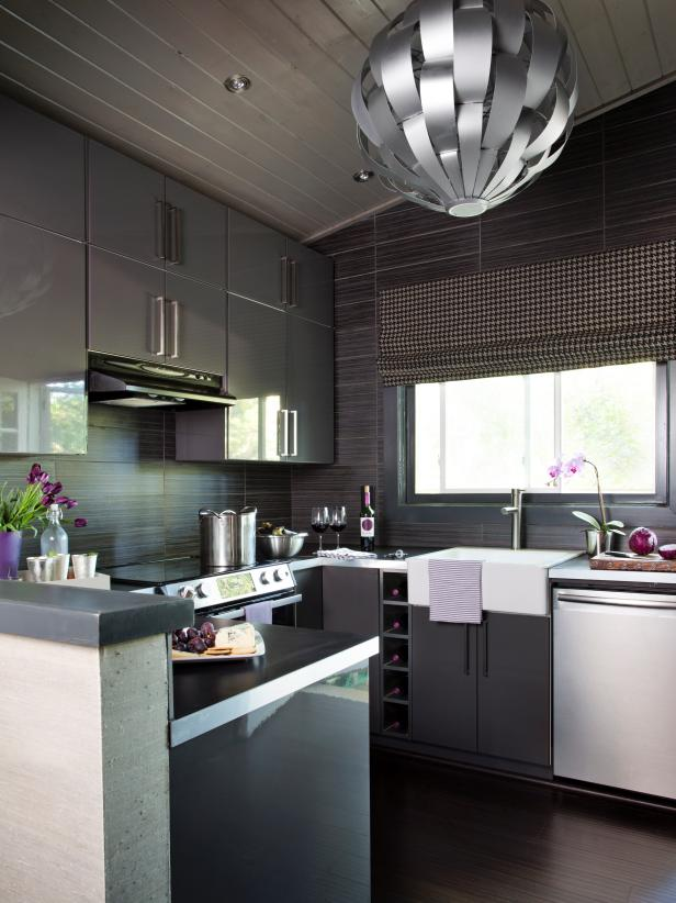 Small modern kitchen design ideas hgtv pictures tips hgtv for Modern kitchen design