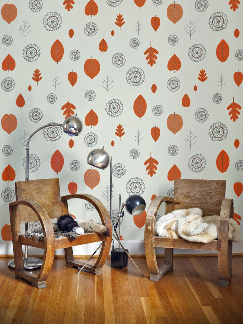 Vintage wallpaper ideas hgtv Retro home ideas
