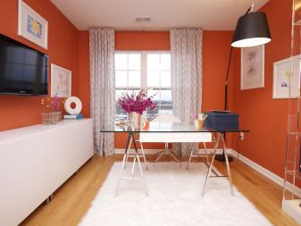 Modern Orange Home Office