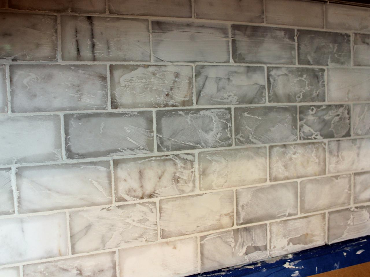How to install a marble tile backsplash hgtv Backsplash tile installation