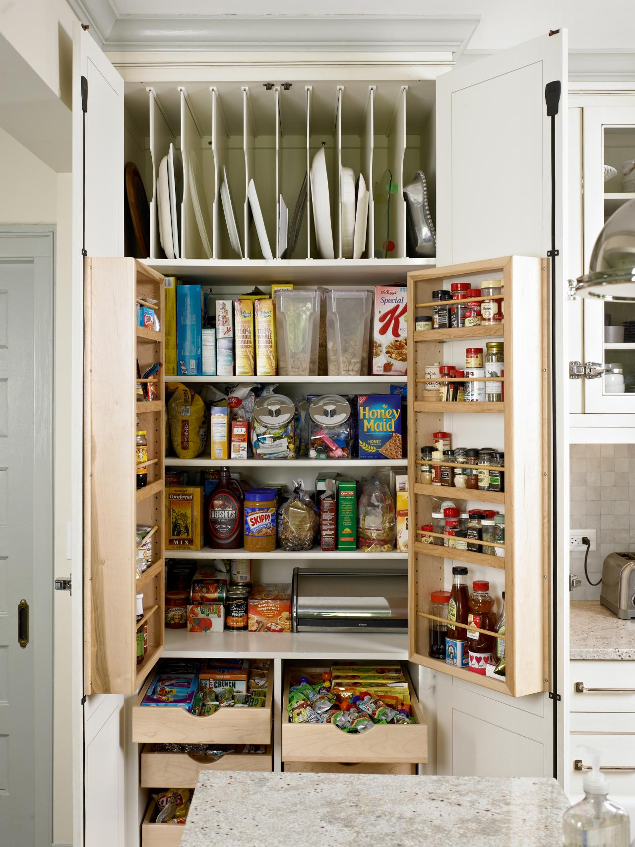 Small kitchen storage ideas pictures tips from hgtv hgtv Kitchen storage cabinets for small spaces