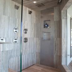 large modern shower in master suite bathroom - Modern Master Suite Bathroom