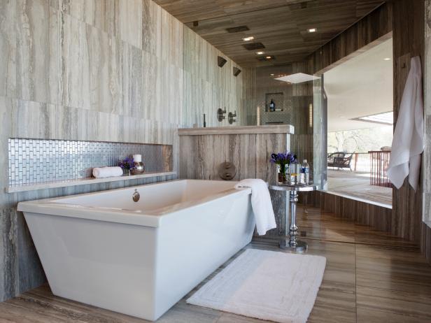 Incroyable Resort Style Gray Bathroom
