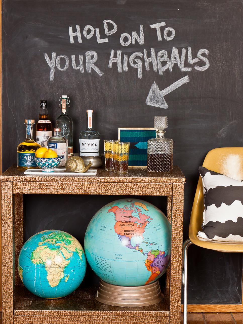 chalkboard paint ideas and projects hgtv - Chalkboard Designs Ideas