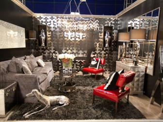 Modern Metallic Living Room